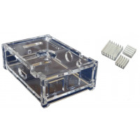 Raspberry Pi - Clear Casing with Heat Sinks (Model B)